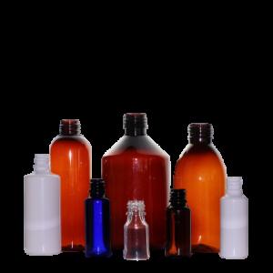 Pharmaflaschen aus Plastik